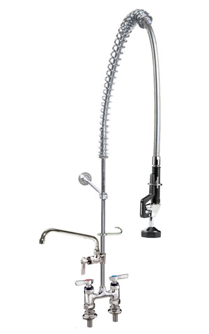 Component Hardware KC56-1000-AF4 pre-rinse faucet assembly, with add on faucet