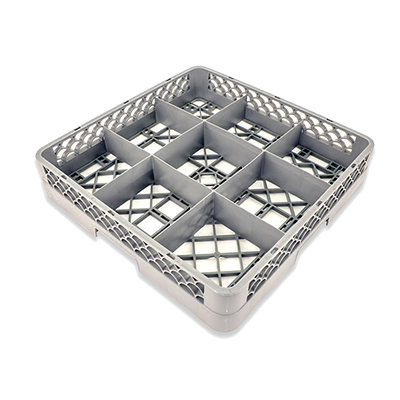 Crestware RBC9 dishwasher rack, glass compartment