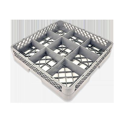 Crestware RBC9 dishwasher rack, glass compartment