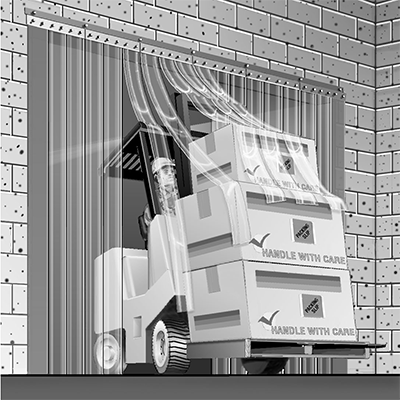 Curtron Products SD-12-67-UM-LC-XLT-96X96 strip curtain unit