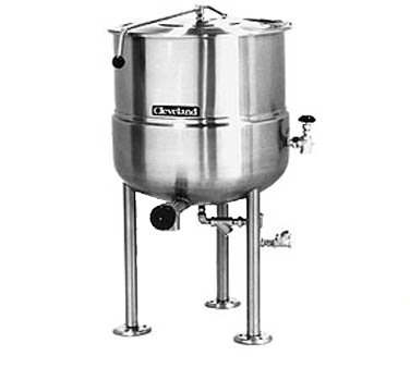 Cleveland Range KDL250 kettle, direct steam, stationary