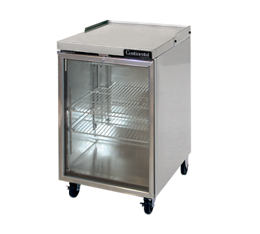 Continental Refrigerator BBC24-SS-GD back bar cabinet, refrigerated
