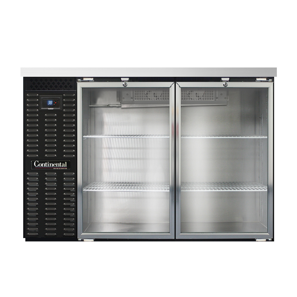Continental Refrigerator BBC50-GD back bar cabinet, refrigerated