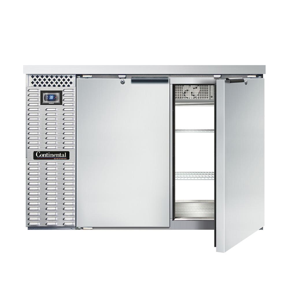 Continental Refrigerator BBC50-SS-PT back bar cabinet, refrigerated, pass-thru