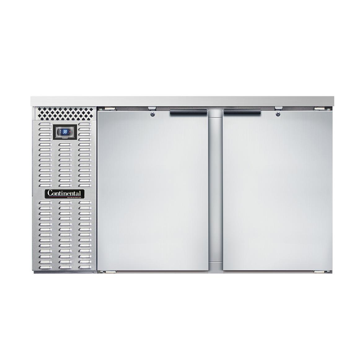 Continental Refrigerator BBC59S-SS back bar cabinet, refrigerated