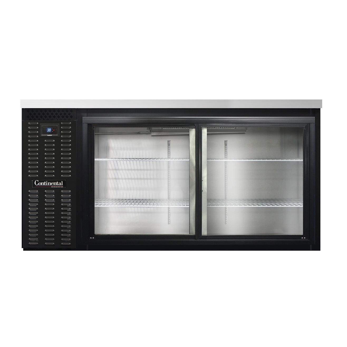 Continental Refrigerator BBC69S-GD back bar cabinet, refrigerated
