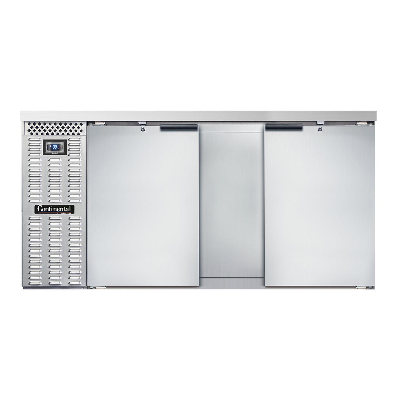Continental Refrigerator BB69NSS back bar cabinet, refrigerated