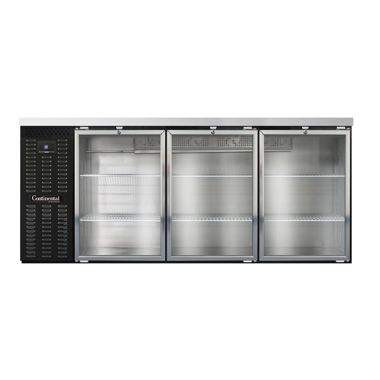 Continental Refrigerator BBC79-GD back bar cabinet, refrigerated