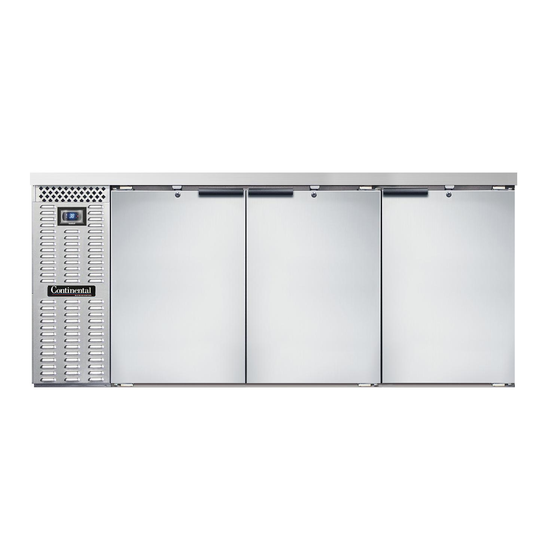 Continental Refrigerator BBC79-SS back bar cabinet, refrigerated