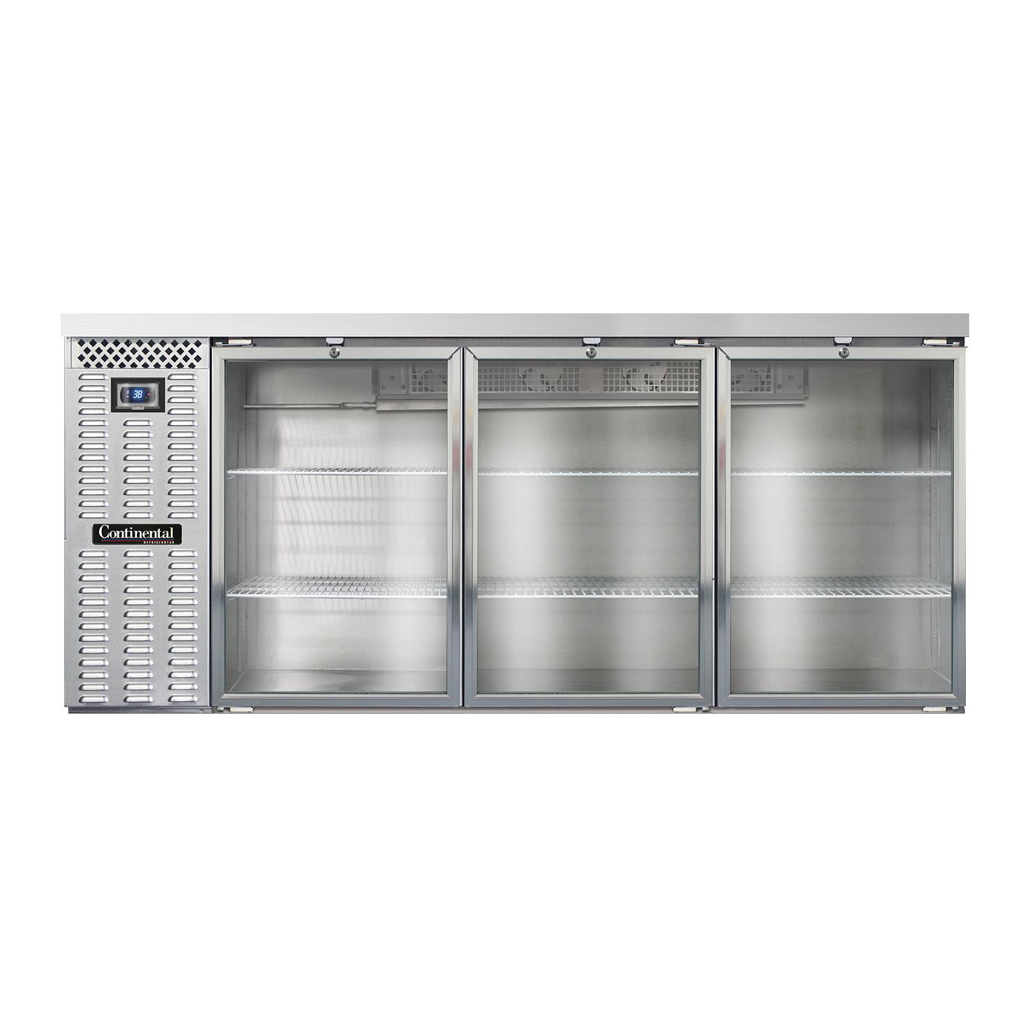 Continental Refrigerator BBC79-SS-GD back bar cabinet, refrigerated