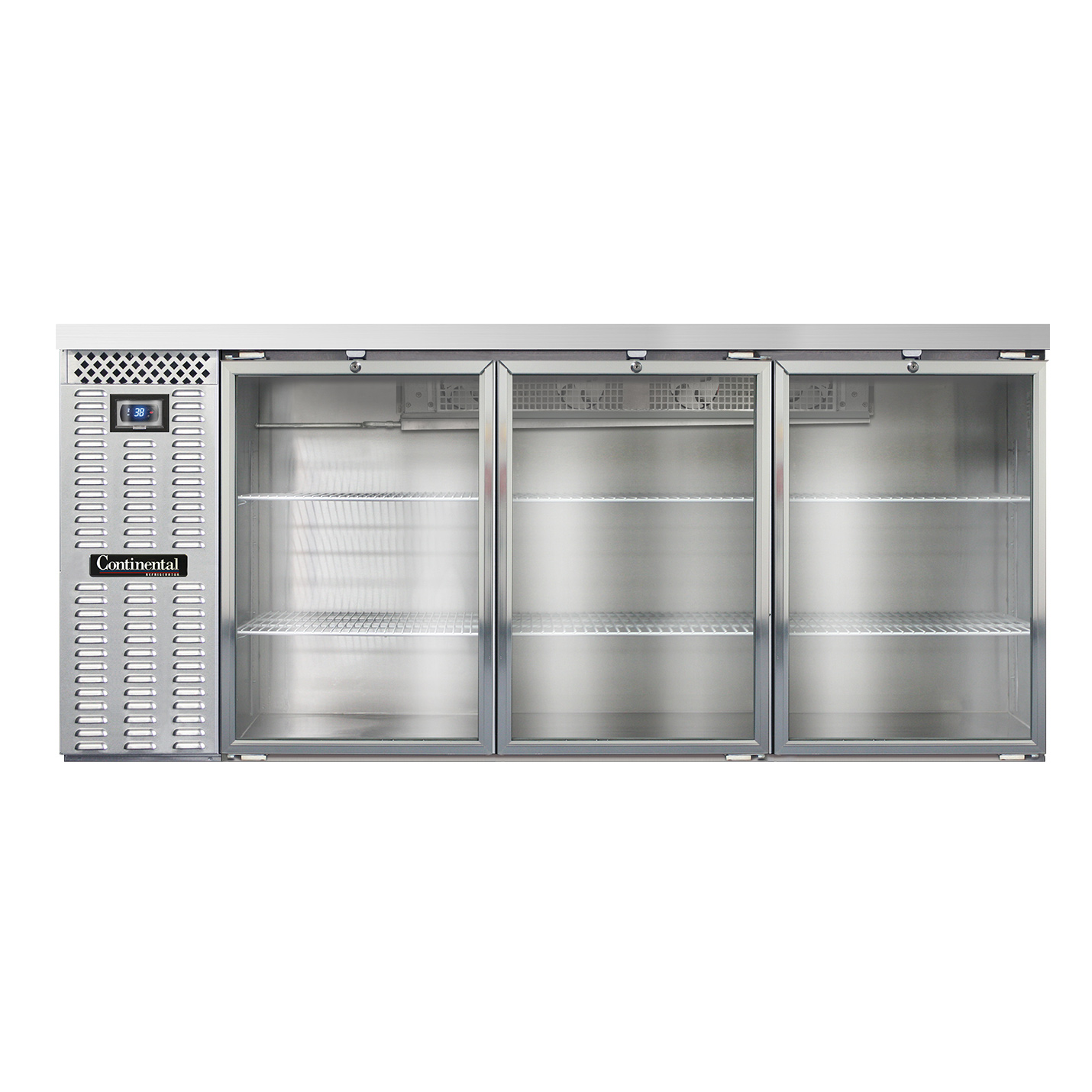 Continental Refrigerator BBC79S-SS-GD back bar cabinet, refrigerated