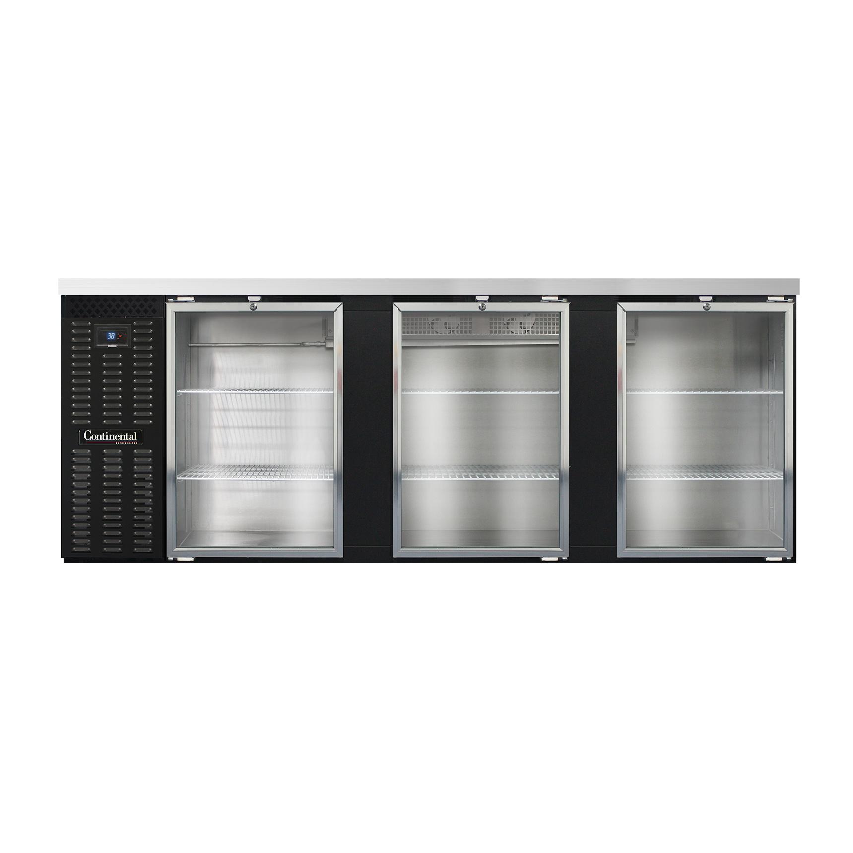 Continental Refrigerator BB90SNGD back bar cabinet, refrigerated