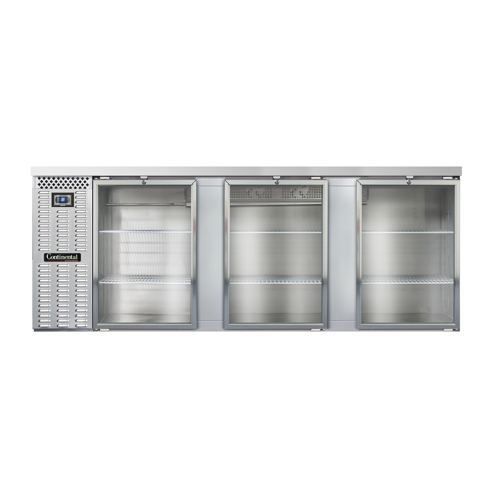 Continental Refrigerator BB90NSSGD back bar cabinet, refrigerated