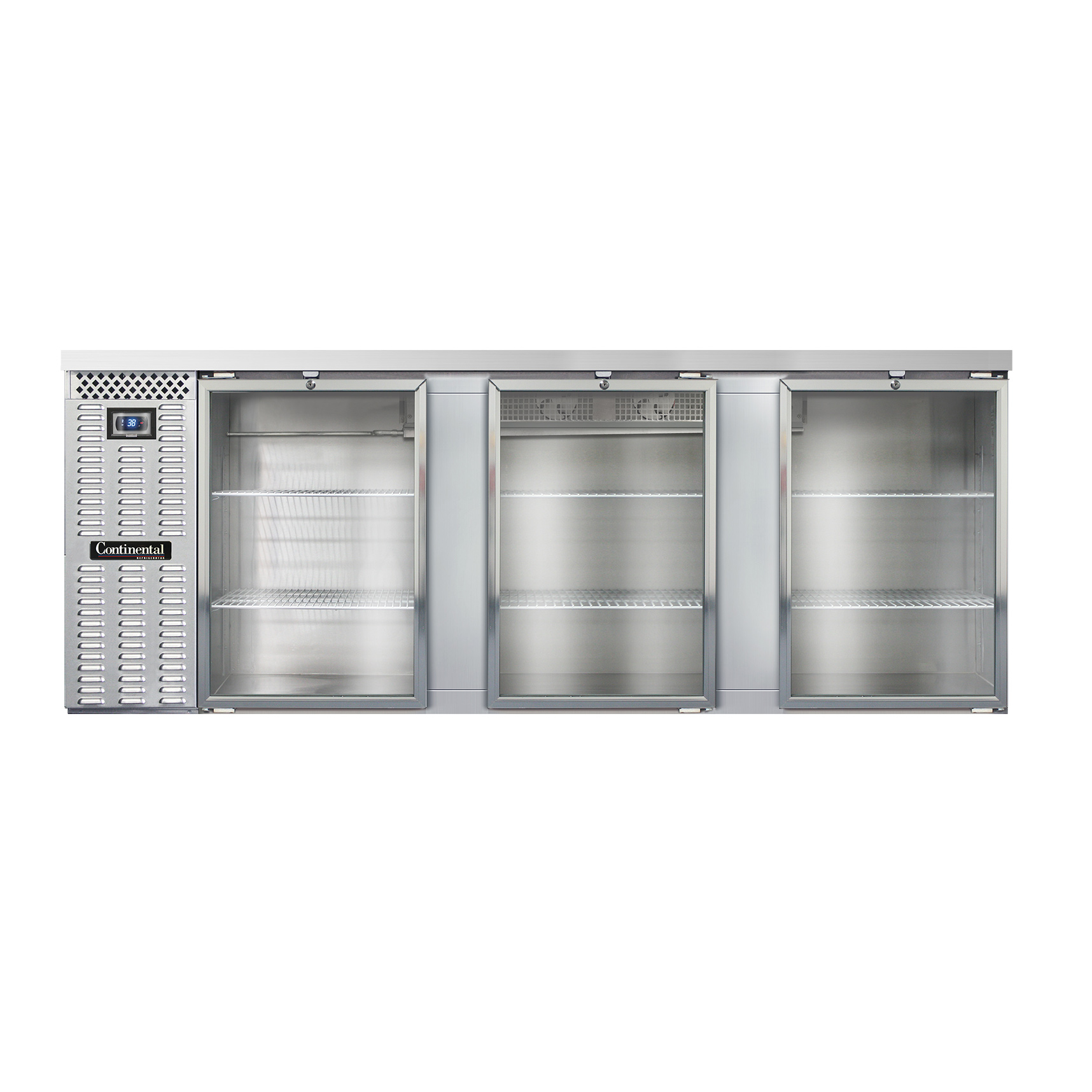 Continental Refrigerator BB90SNSSGD back bar cabinet, refrigerated