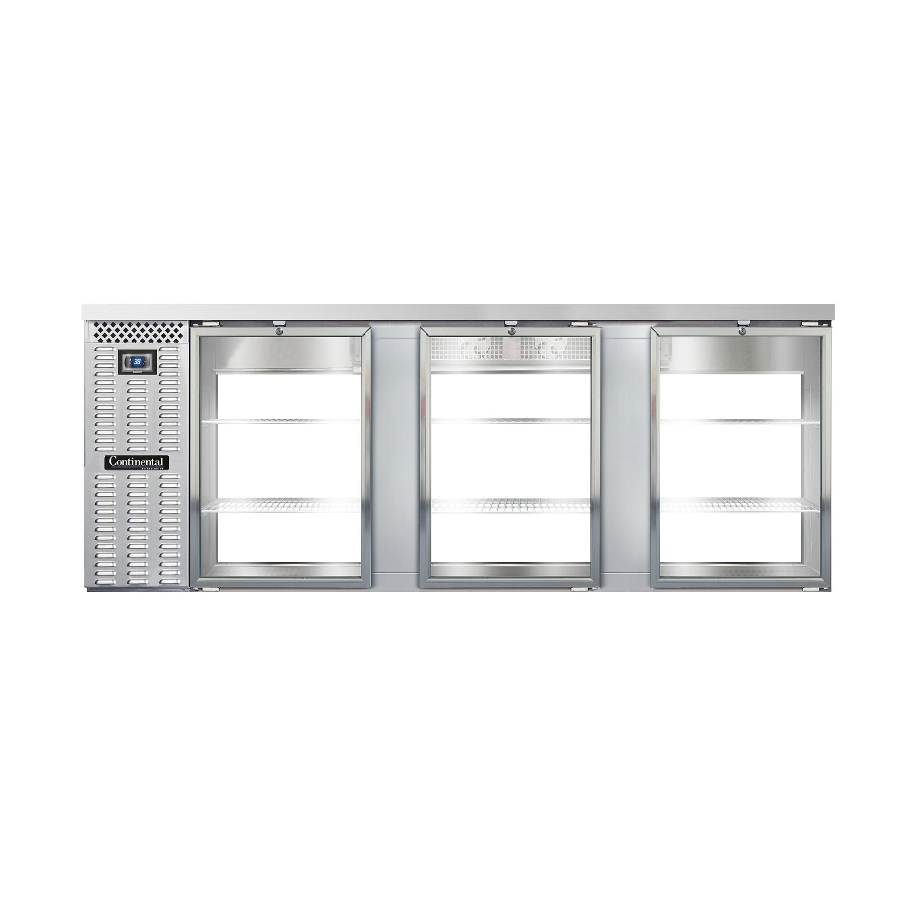 Continental Refrigerator BB90SNSSGDPT back bar cabinet, refrigerated, pass-thru