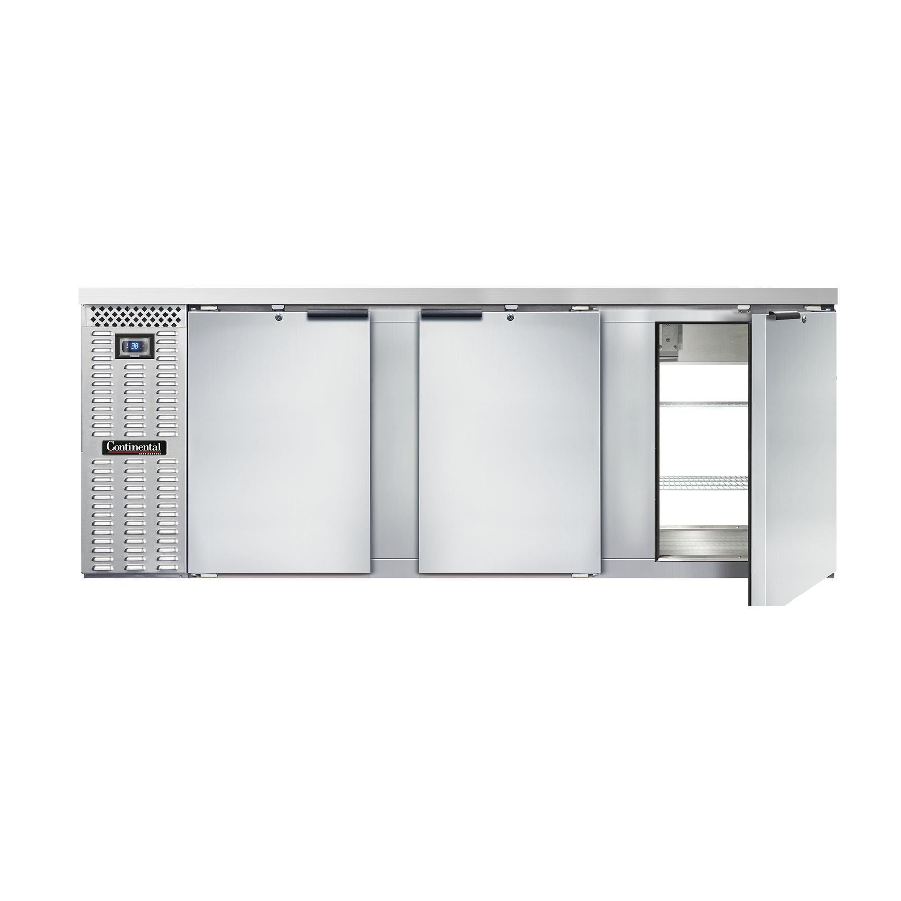 Continental Refrigerator BB90SNSSPT back bar cabinet, refrigerated, pass-thru