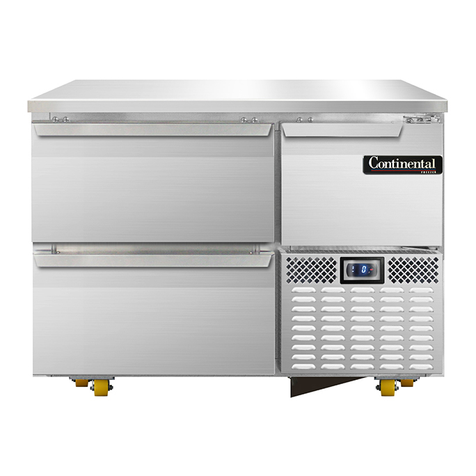 Continental Refrigerator CFA43-U-D freezer, undercounter, reach-in