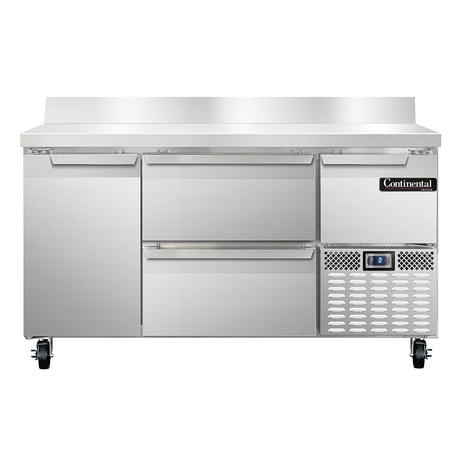 Continental Refrigerator CFA60-BS-D freezer counter, work top