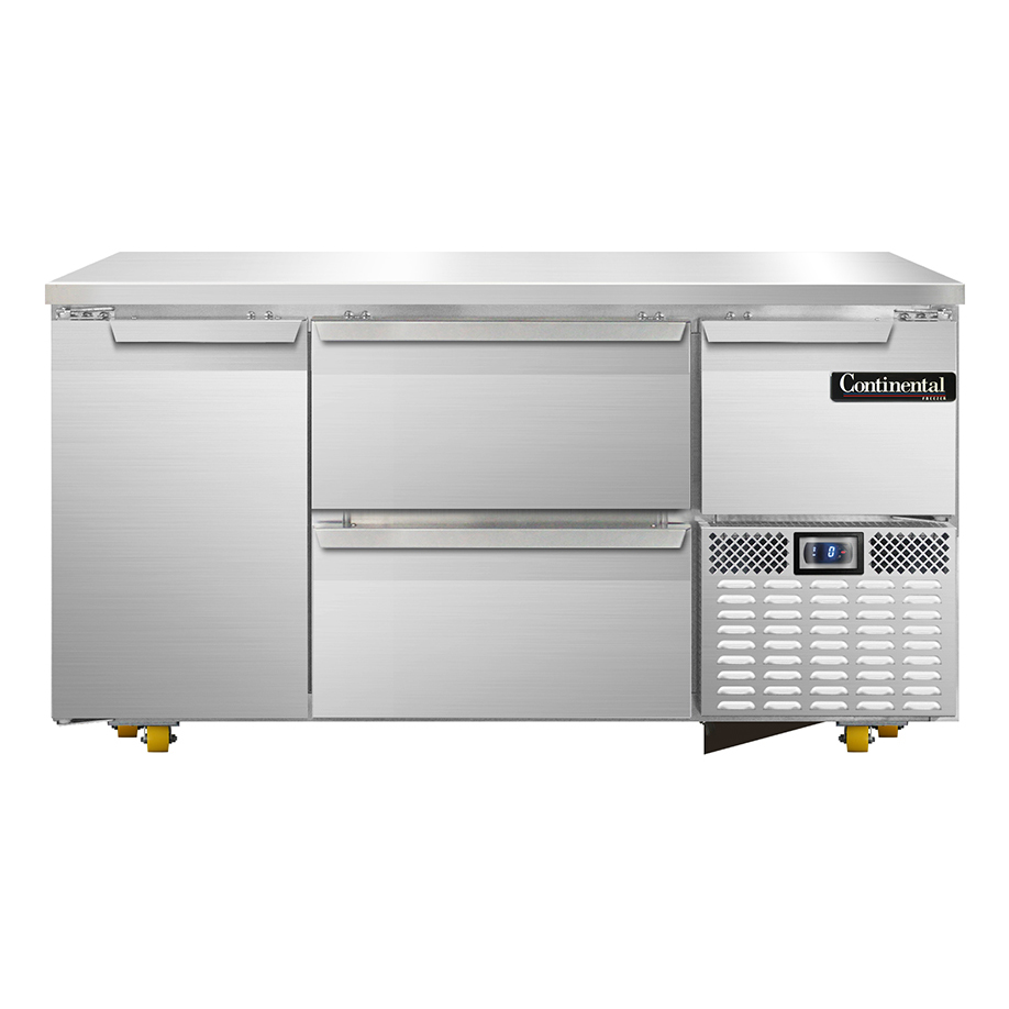 Continental Refrigerator CFA60-U-D freezer, undercounter, reach-in