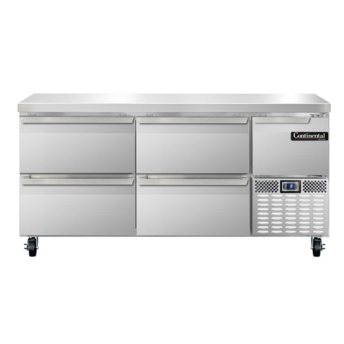 Continental Refrigerator CFA68-D freezer counter, work top