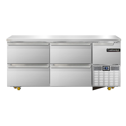 Continental Refrigerator CFA68-U-D freezer, undercounter, reach-in