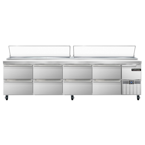 Continental Refrigerator CPA118-D refrigerated counter, pizza prep table