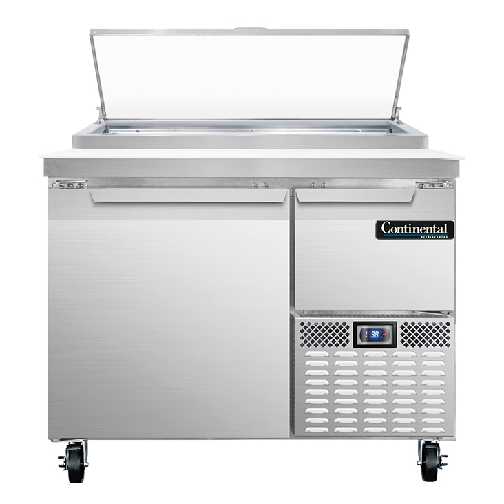 Continental Refrigerator PA43N refrigerated counter, pizza prep table