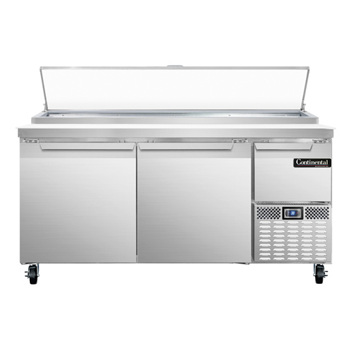 Continental Refrigerator PA68N refrigerated counter, pizza prep table