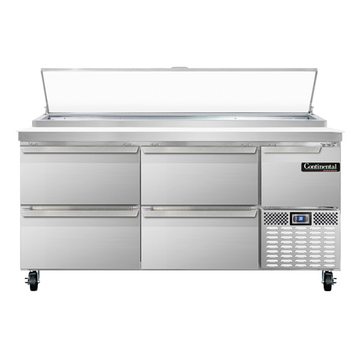 Continental Refrigerator PA68N-D refrigerated counter, pizza prep table