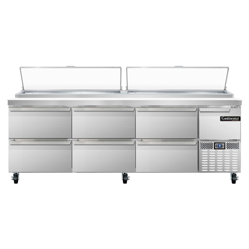 Continental Refrigerator CPA93-D refrigerated counter, pizza prep table