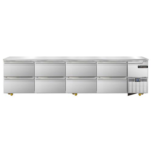 Continental Refrigerator RA118N-U-D refrigerator, undercounter, reach-in