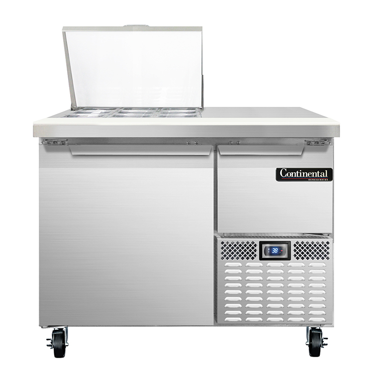 Continental Refrigerator CRA43-9M refrigerated counter, mega top sandwich / salad unit