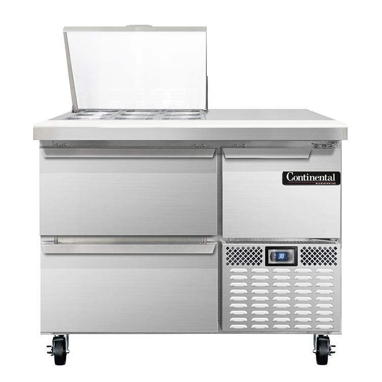 Continental Refrigerator RA43N9M-D refrigerated counter, mega top sandwich / salad unit