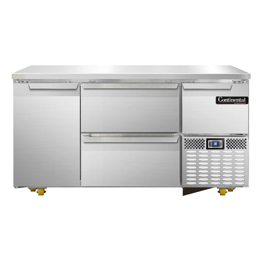 Continental Refrigerator CRA60-U-D refrigerator, undercounter, reach-in