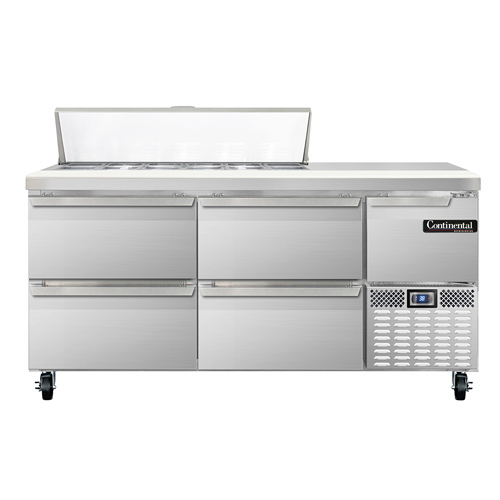 Continental Refrigerator CRA68-12-D refrigerated counter, sandwich / salad unit