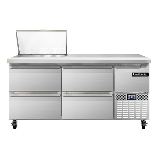 Continental Refrigerator RA68N12M-D refrigerated counter, mega top sandwich / salad unit