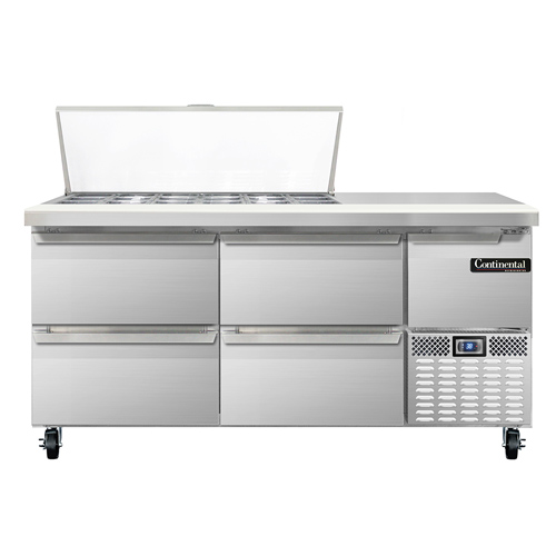 Continental Refrigerator RA68N18M-D refrigerated counter, mega top sandwich / salad unit