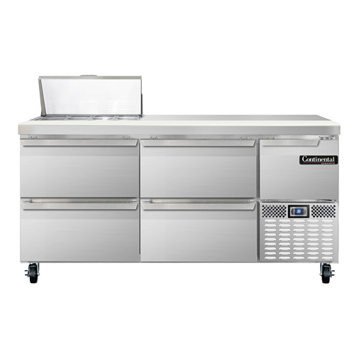 Continental Refrigerator CRA68-8-D refrigerated counter, sandwich / salad unit
