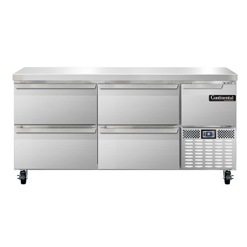 Continental Refrigerator RA68N-D refrigerated counter, work top