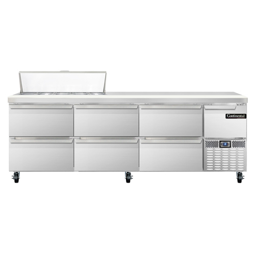 Continental Refrigerator CRA93-10-D refrigerated counter, sandwich / salad unit