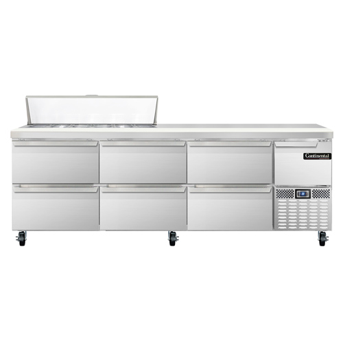 Continental Refrigerator RA93N12-D refrigerated counter, sandwich / salad unit