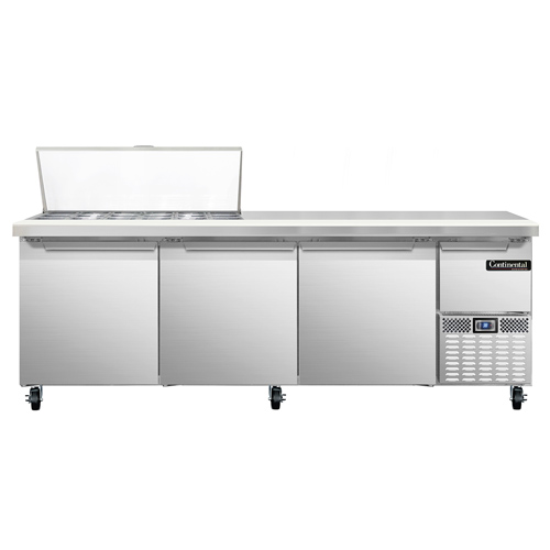 Continental Refrigerator CRA93-18M refrigerated counter, mega top sandwich / salad unit