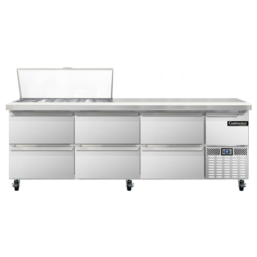 Continental Refrigerator CRA93-18M-D refrigerated counter, mega top sandwich / salad unit