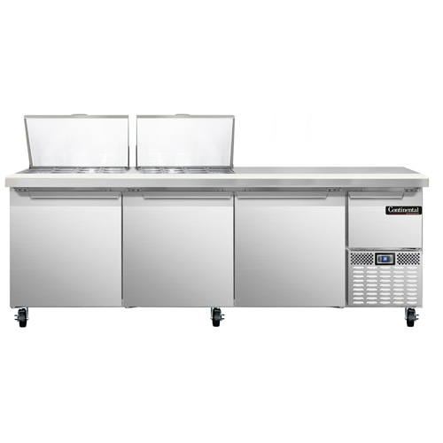 Continental Refrigerator RA93N24M refrigerated counter, mega top sandwich / salad unit