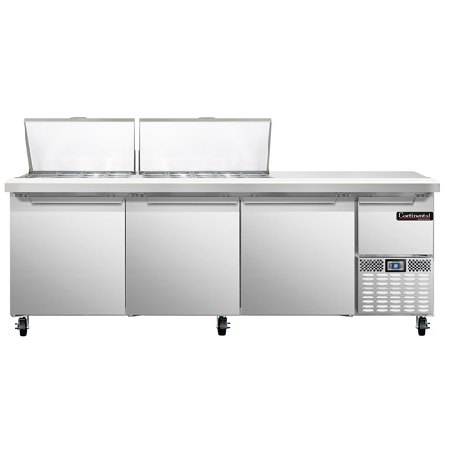 Continental Refrigerator RA93N27M refrigerated counter, mega top sandwich / salad unit