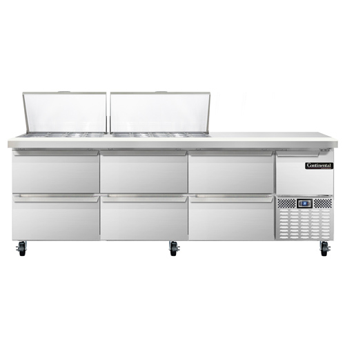 Continental Refrigerator CRA93-27M-D refrigerated counter, mega top sandwich / salad unit