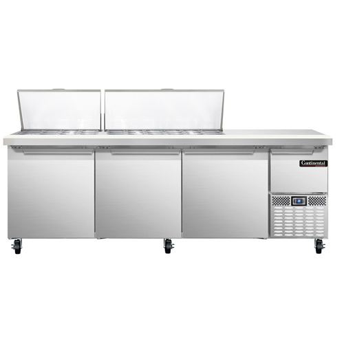 Continental Refrigerator CRA93-30M refrigerated counter, mega top sandwich / salad unit