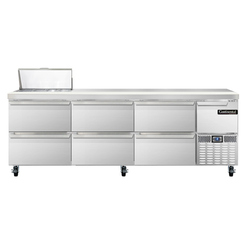 Continental Refrigerator CRA93-8-D refrigerated counter, sandwich / salad unit
