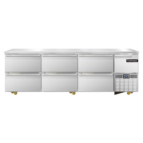 Continental Refrigerator RA93N-U-D refrigerator, undercounter, reach-in