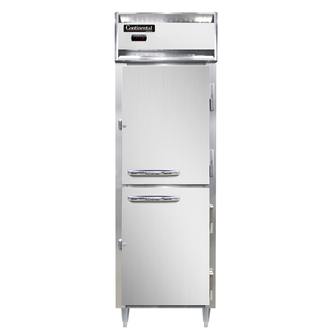 Continental Refrigerator DL1W-SS-HD heated cabinet, reach-in